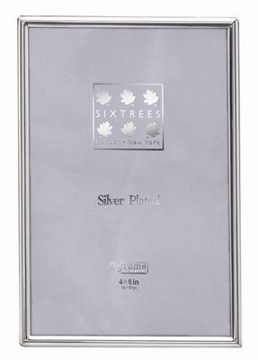 Sixtrees Cambridge Narrow Rim Plated Photo Frame - 16cm H x 11.5cm W x 2cm D