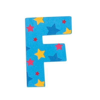 Bigjigs Toys Star Letter F (Blue)