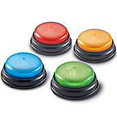 Learning Resources Set of 4 Light and Sounds Answer Buzzers