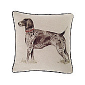 McAlister Printed Country Dog Cushion - Wool Look