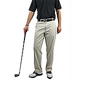 Woodworm Dryfit Flat Front Golf Trousers - Stone