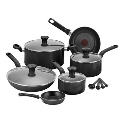 buy tefal c723s744 excite 7 piece pan set black from our. Black Bedroom Furniture Sets. Home Design Ideas