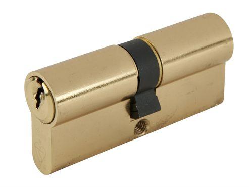 Yale Locks Euro Double Cylinder Kitemark 35 x 35 (80mm) Polished Brass Visi