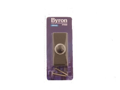 Byron 7900 Cent Bell Push Black