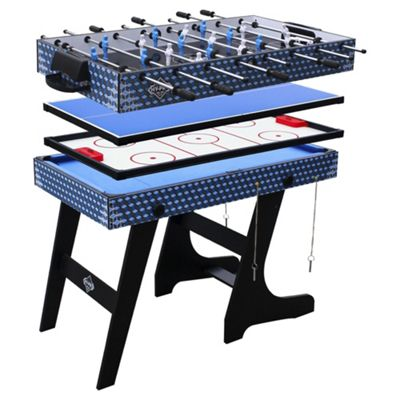 Tesco Hypro 4ft 4 In 1 Folding Multi Games Table