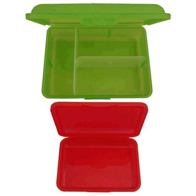 Kids Lunch Boxes with compartments - Green, Children's Compartment Lunch Boxes, Children's Lunch Boxes