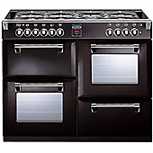 RICHMOND 1000DFT 1000mm Dual Fuel Range Cooker WOK Burner, Black