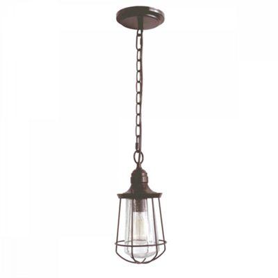 Western Bronze 1lt Small Chain Lantern - 1 x 60W E27