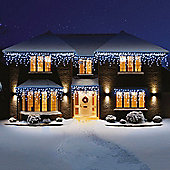 Premier Snowing LED Icicle Lights 360 White