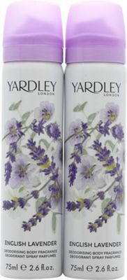 Yardley English Lavender Body Spray 2 x 75ml