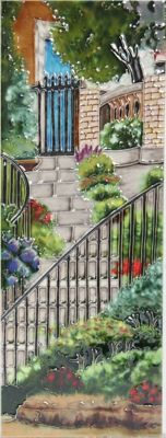 YH Arts Ceramic Wall Art, Garden Steps, Design 2 6 x 16