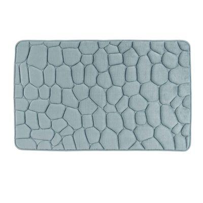 Homescapes Memory Foam Duck Egg Blue Shower Mat Pebble Design Non-Slip