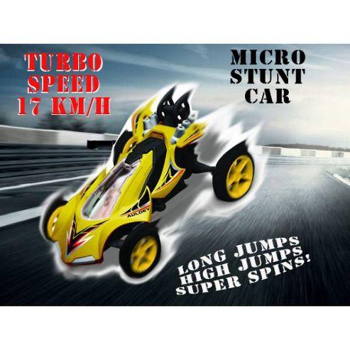 Auldey High Speed Stunt Micro RC Car Yellow