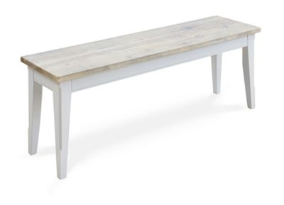 Signature Range Dining Bench 130cm Grey Furniture-Baumhaus