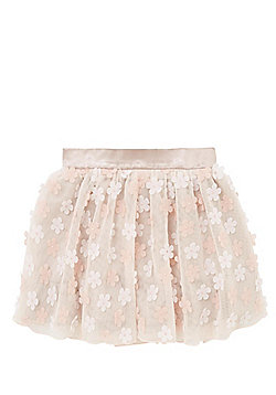 F&F 3D Flower Tutu Skirt - Blush pink