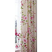 Catherine Lansfield Red Canterbury Curtains 66x72 Inches (168x183cm)