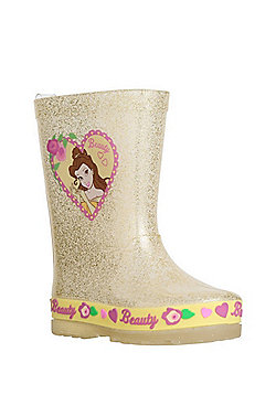 Disney Princess Belle Glitter Wellies - Gold yellow