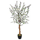 Homescapes Artificial Blossom Tree with White Silk Flowers - 5 Feet