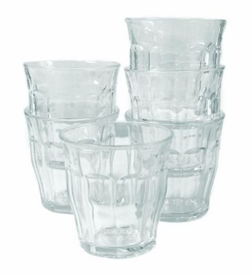 Duralex Picardie Glass Tumblers 130ml, Clear, Set of 6 1024AB06