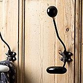Black Ceramic Coat Hook