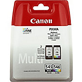 Canon PG-545 / CL-546 (Black/Colour - B/C/M/Y) Bundle for Pixma MG2250, MG2450, MG2550
