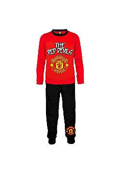 Manchester United FC Boys Pyjamas - Black 808614413