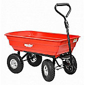 Universal Garden Handcart and Tractor Trailer with Tilt Feature – Hecht 52145