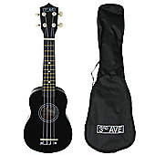 3rd Avenue Soprano Ukulele with Bag - Black