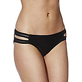 F&F Mesh Insert Bikini Briefs - Black