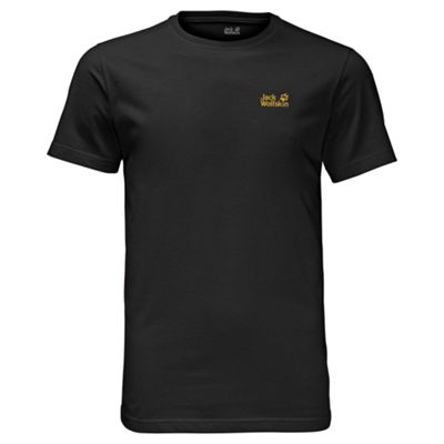 Jack Wolfskin Mens Essential Basic T-Shirt Black XL