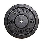 Body Power Cast Iron Standard (1 Inch) Discs - 20kg (x2)