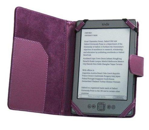 iTALKonline PadWear Purple Executive Wallet Case - Amazon Kindle 4
