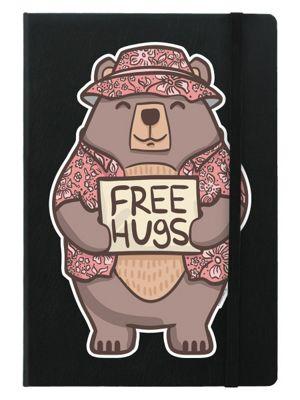 Free Hugs A5 Black Notebook 14x21cm