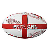 Optimum Nation Rugby Ball - England RWC - White