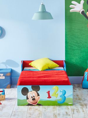 Mickey Mouse Toddler Bed & Deluxe Foam Mattress