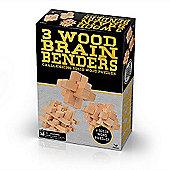 3 Wood Brain Benders Puzzle