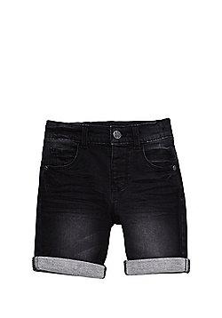 F&F Loopback Denim Shorts - Washed Black
