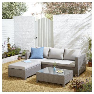 Buy tesco san marino rattan l shaped sofa garden lounge set grey tesco san marino rattan l shaped sofa garden lounge set grey workwithnaturefo