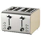 Tesco 4 Slice Toaster - Cream & Stainless Steel