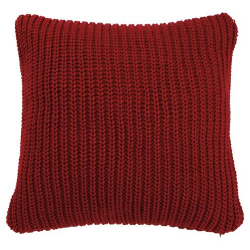 Tesco Chunky Knit Cushion Red