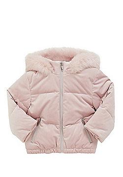 F&F Velour Padded Jacket - Pink