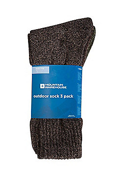 Mountain Warehouse Outdoor Socks Comfortable Polyester and Spandex - Khaki