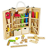 Classic World Carpenters Wooden Toolbox