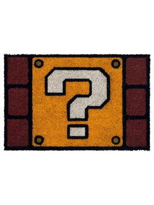 Super Mario Question Mark Block Door Mat 40x60cm