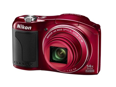 DS Nikon Coolpix L610 Camera Red 16MP 14xZoom 3.0LCD FHD 25mm Wide Lens