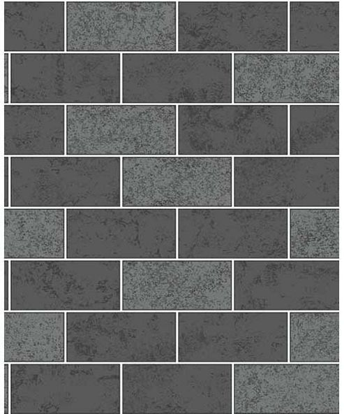 Ceramica Subway Glitter Tile Black Wallpaper