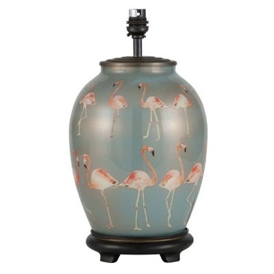 Flamingos Medium Oval Table Lamp