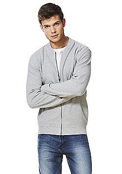 F&F Ottoman Bomber Sweatshirt Jacket - Grey