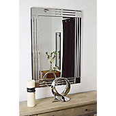 Modern Design Silver Bevelled Edge Venetian Wall Mirror 2Ft4 X 3Ft4 70Cm X 100Cm