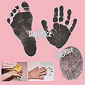 BabyRice - Inkless Wipe Hand and Foot Print Kit with Pink Cards